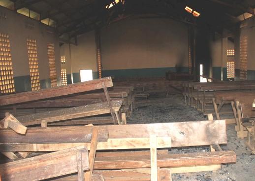 Catholic church in Nzérékoré following deadly violence two weeks ago.
