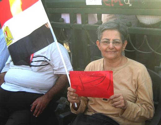 Hebatalla Safwat Ghali in Tahrir Square.