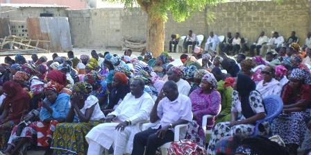 Church gathering in Maiduguri, Nigeria. Feb 2014.
