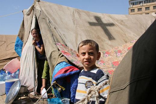 Young Iraqi  refugees in Erbil, Kurdistan, in 2014.