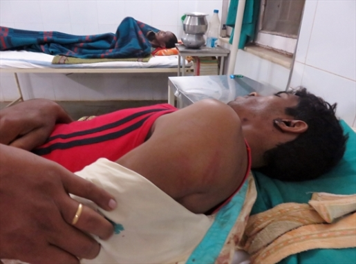 Several Christians were hospitalised after the incident in Chhattisgarh state.