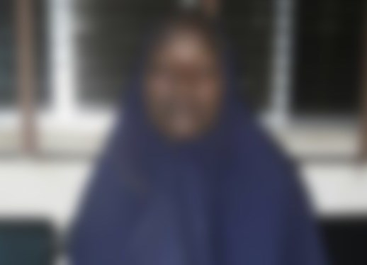 This blurred photo is believed to show Serah Luka, the second Chibok girl reportedly rescued this week.