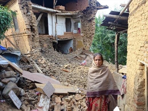 The April 2015 earthquake tore houses apart in Champi, a village near Kathmandu.