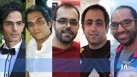 L to R: Mohammad Dehnavi, Hadi Asgari, Amin Afshar Naderi, Ramil Bet-Tamraz and Amir Dashti.