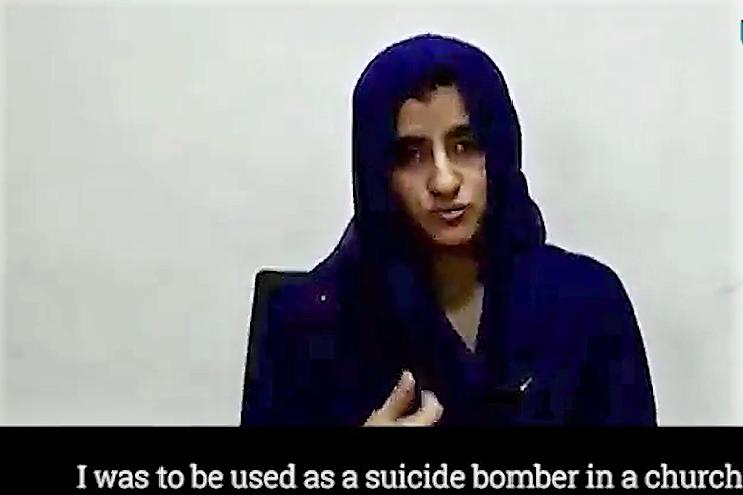 You woman suicide bomber excellent message