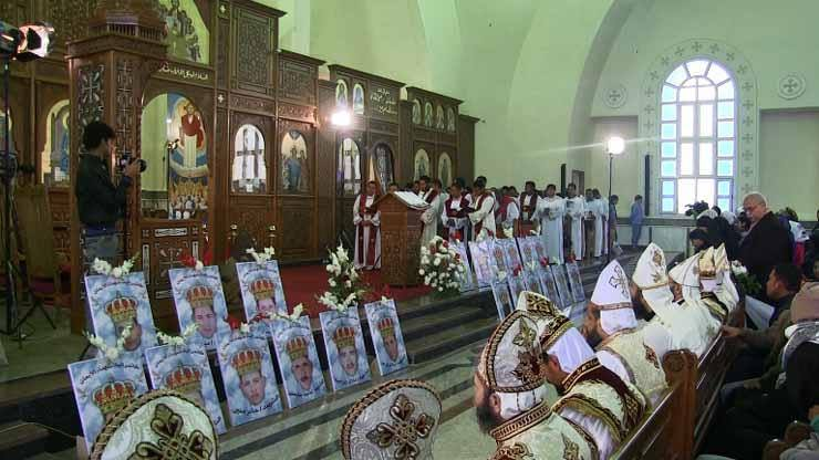 The bodies of all 21 victims are expected to be reburied in the church. (World Watch Monitor)