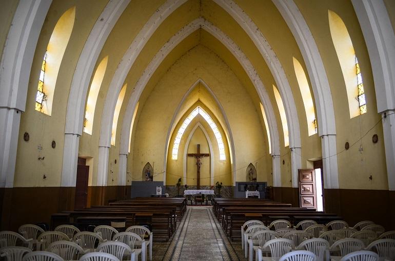 Catholic church in Jau village, in Angola's southwest Huila province. (Photo: jbdodane via Flickr; CC 2.0)
