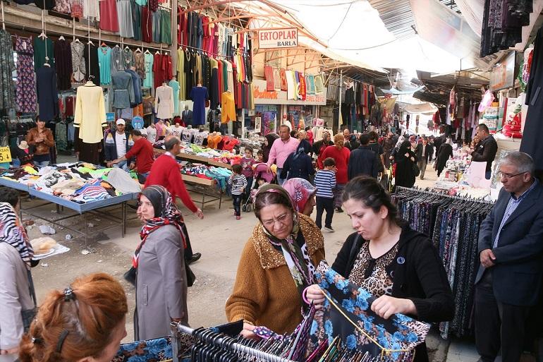 Turkey, street market in Ankara