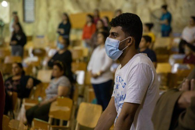 Christian prays during COVID-19, Cairo